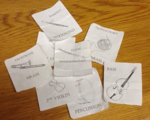 Orchestral Seating Cards